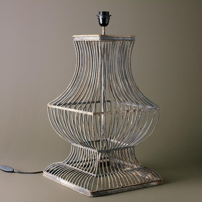 LAMPARA B.CUAD ALAMBRES GRIS-BLANCO
