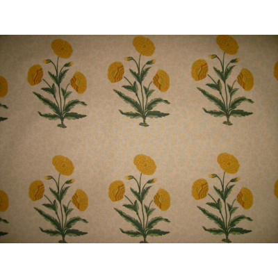 Poppy beige yellow fabric