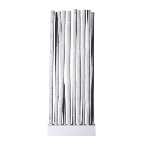 White bamboo screen room divider
