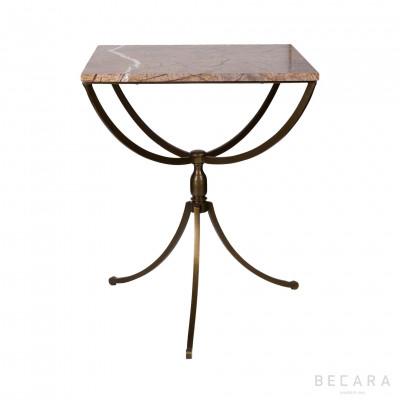 Velador cuadrado de mármol - BECARA