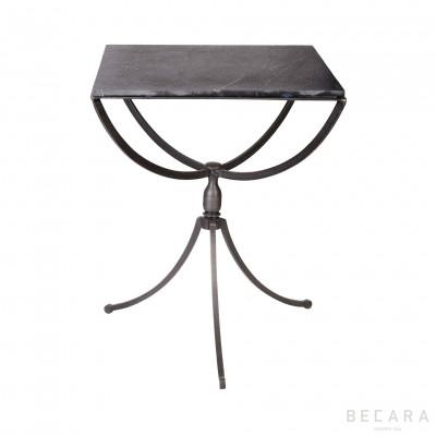Velador cuadrado de pizarra - BECARA