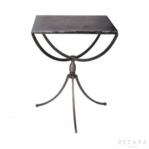 Square slate bedside table