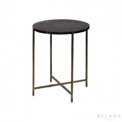 Golden side table with...