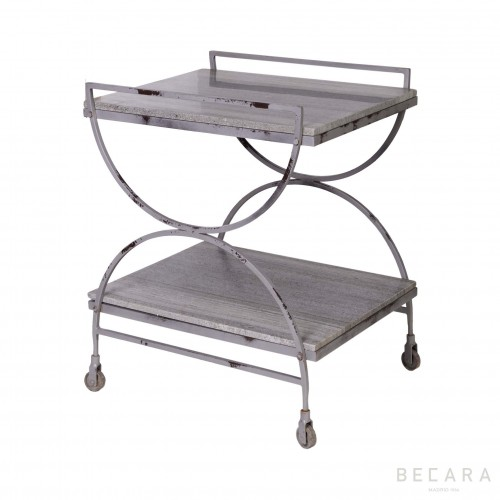 Side table with wheels