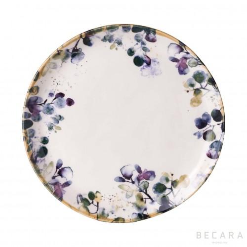 Plato llano de flores - BECARA