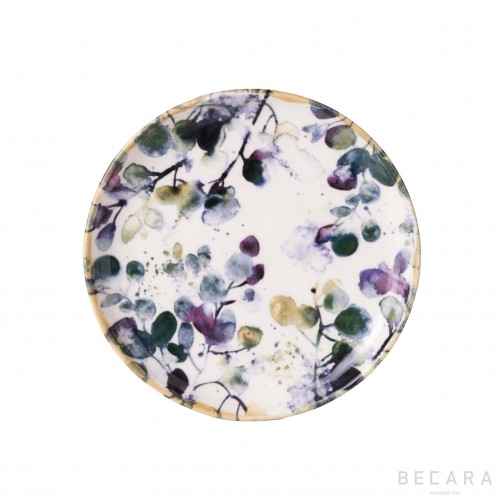 Plato de postre de flores - BECARA