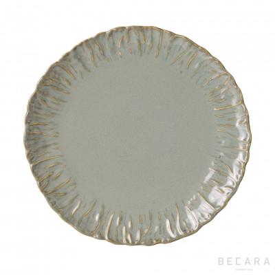 Plato llano verde - BECARA