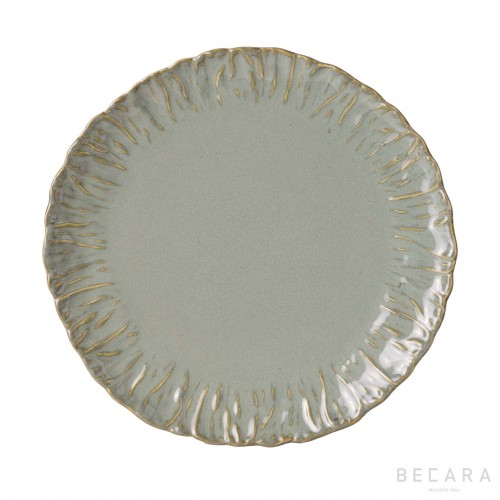 Green shallow plate