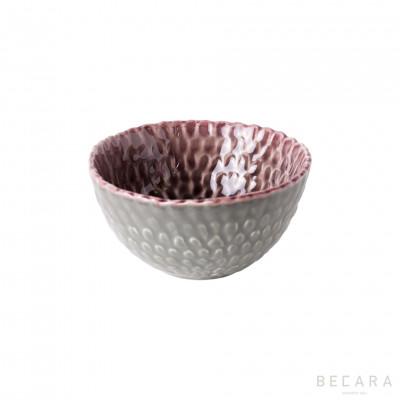Bowl pequeño burdeos/gris - BECARA