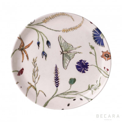 Plato llano mariposas - BECARA