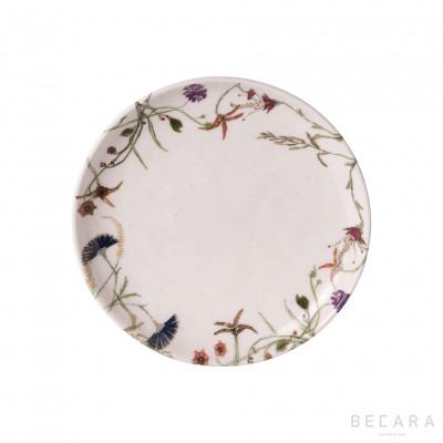 Flower dessert plate