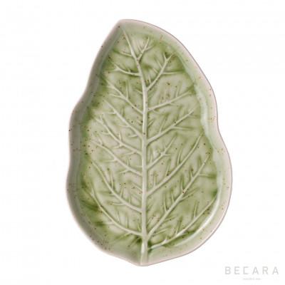 Fuente hoja verde claro - BECARA