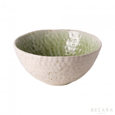 Green soup plate