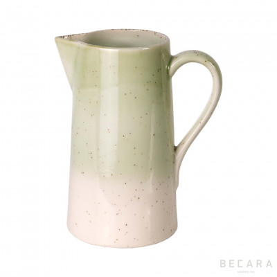 Jarra verde/blanca - BECARA