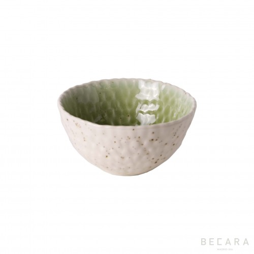 Bowl pequeño verde/blanco - BECARA