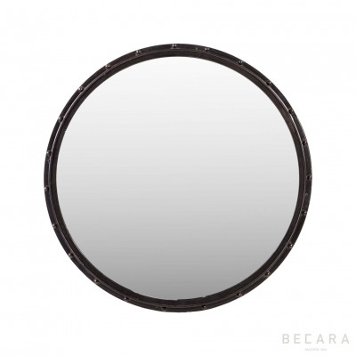 Black rounded mirror