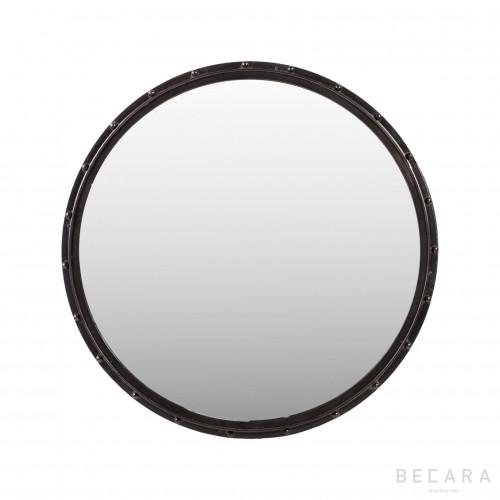 Espejo redondo negro - BECARA