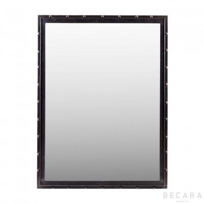 Espejo rectangular con remaches - BECARA