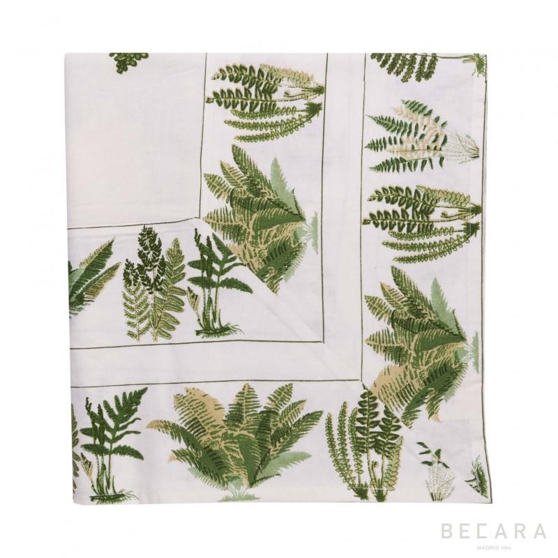Big Fern Cream tablecloth