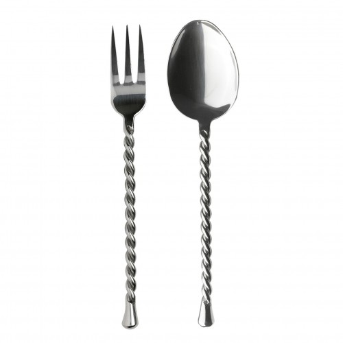 Cord handle meat serving set