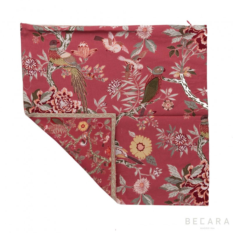 Bird Brique cushion cover