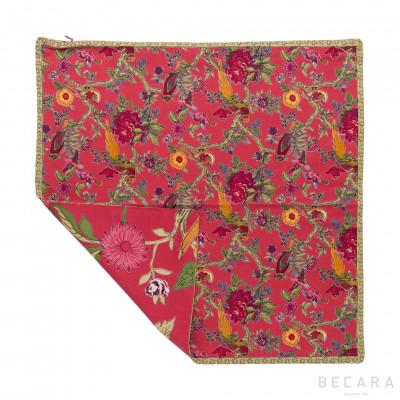 Bird Coral cushion cover