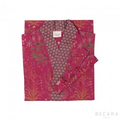 Kimono/Bata Garden Red - BECARA