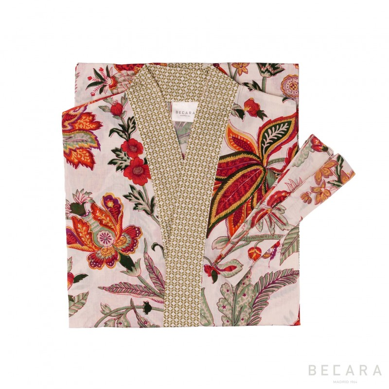 kimono/housecoat Beige Hawaii