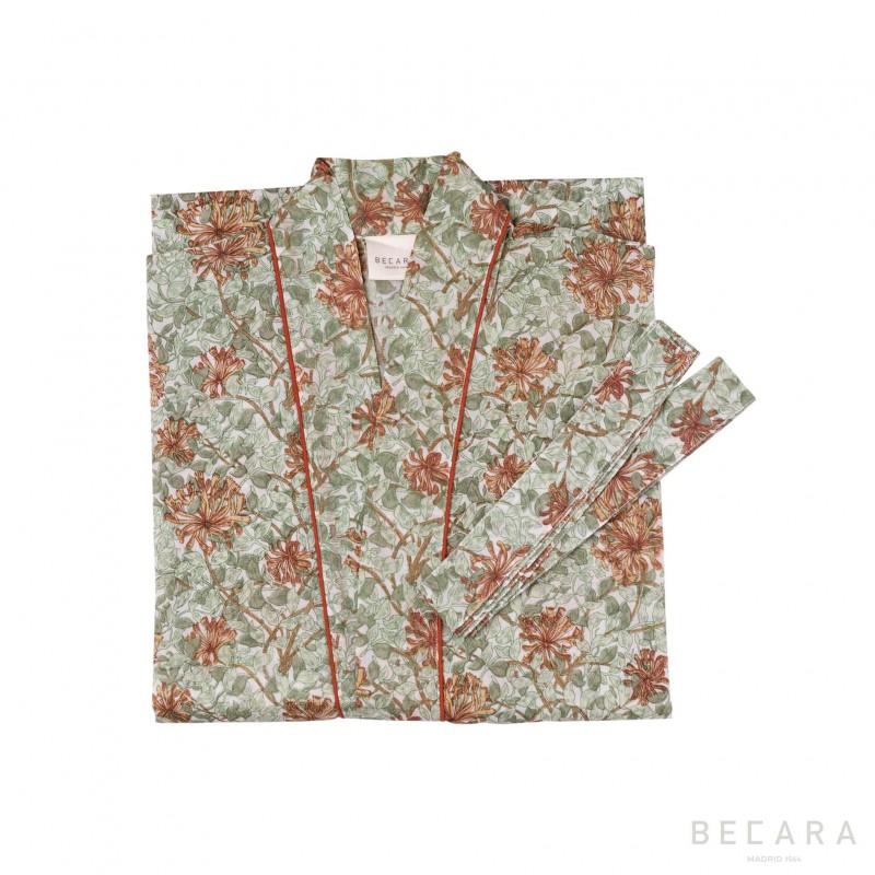 Honey Suckle kimono/housecoat