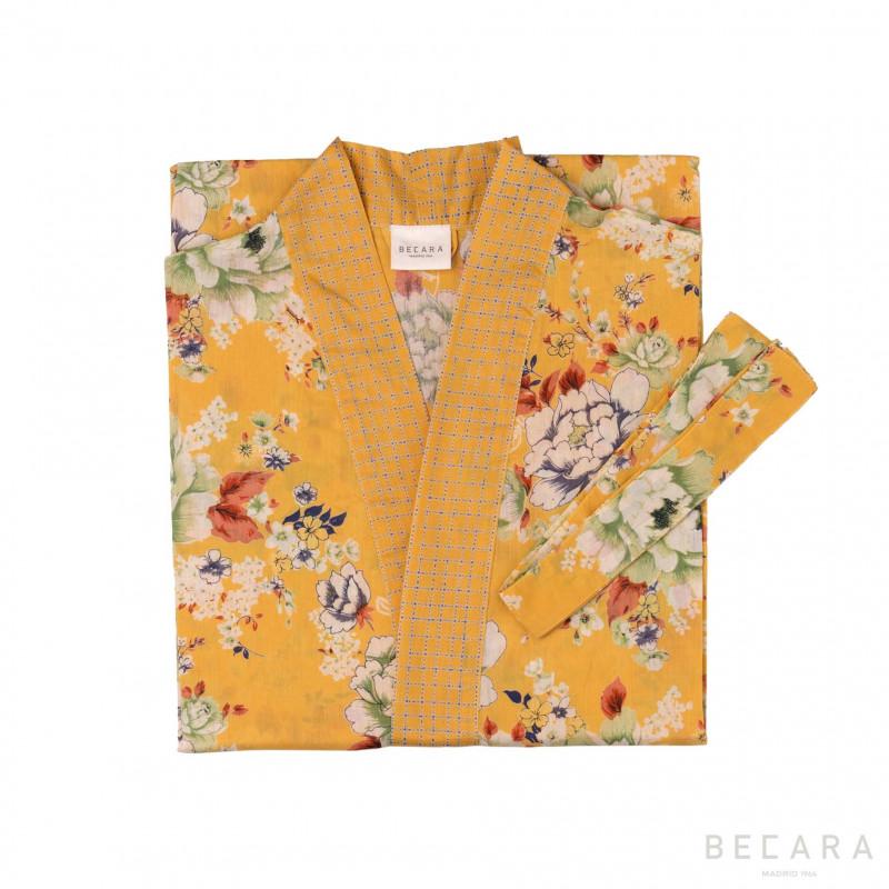 Kimono/bata Magnolia Mango - BECARA