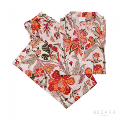 Pijama Beige Hawaii - BECARA