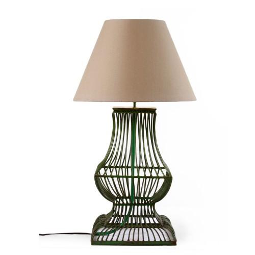 Lámpara de mesa tiras verdes