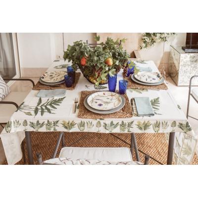 Small Fern Cream tablecloth