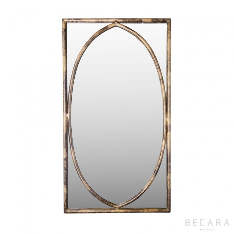Oval interior mirror