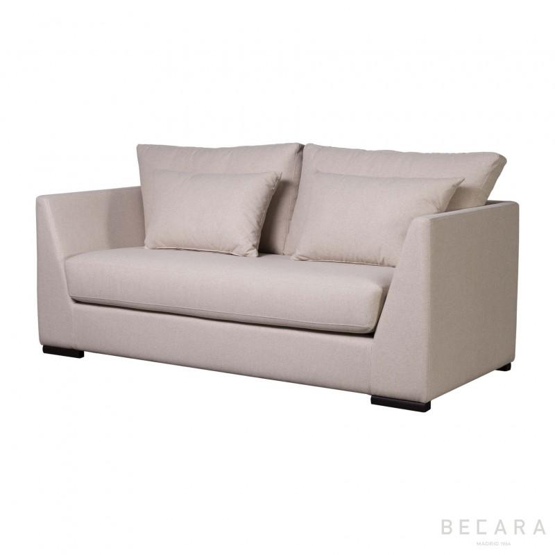 Large beige Valdés sofa