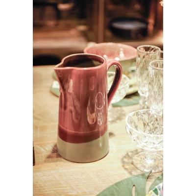 Burgundy/grey jug