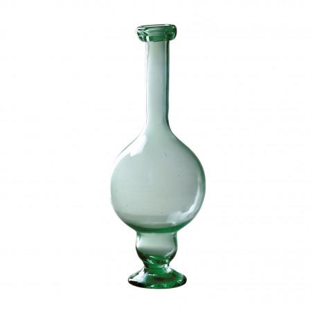 Florero de vidrio verde
