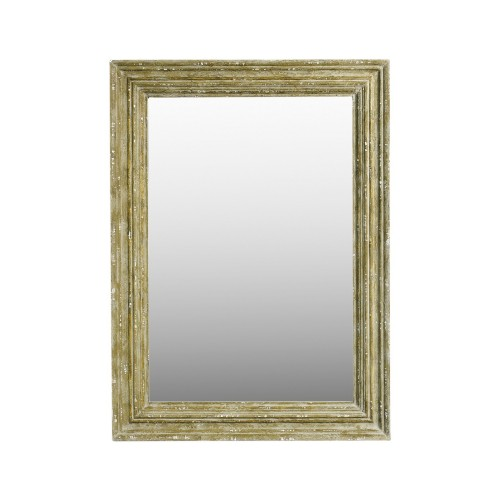 95x130cm beige coloured wooden mirror