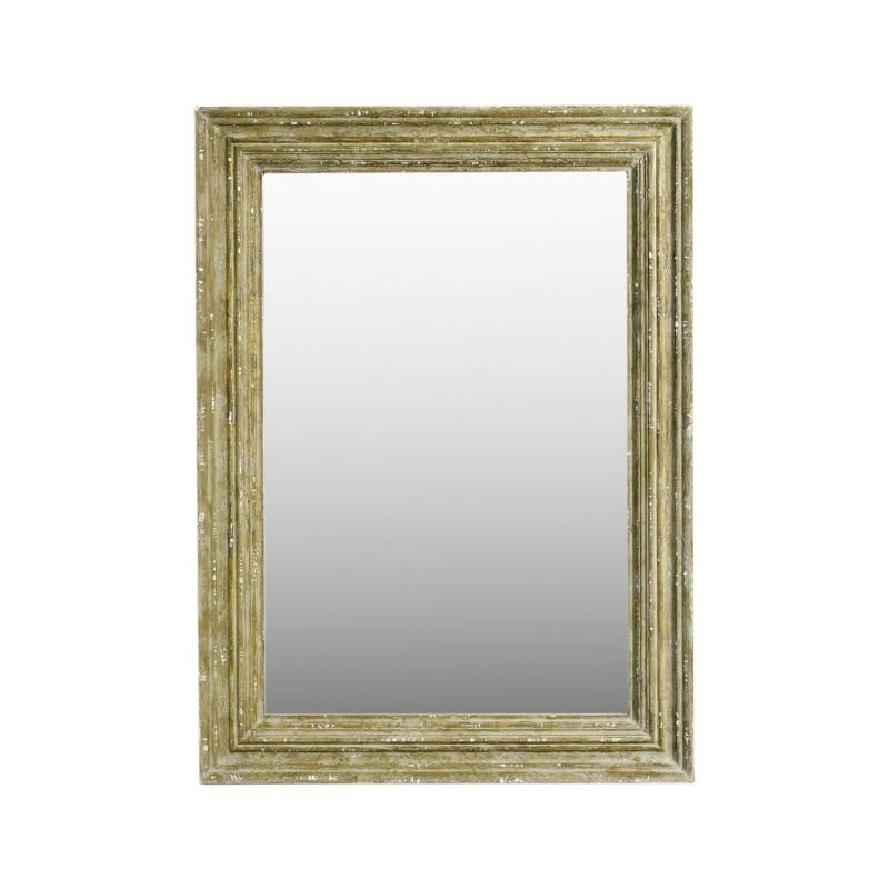 95x130cm beige coloured wooden mirror