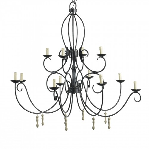 12 lights bobbin chandelier