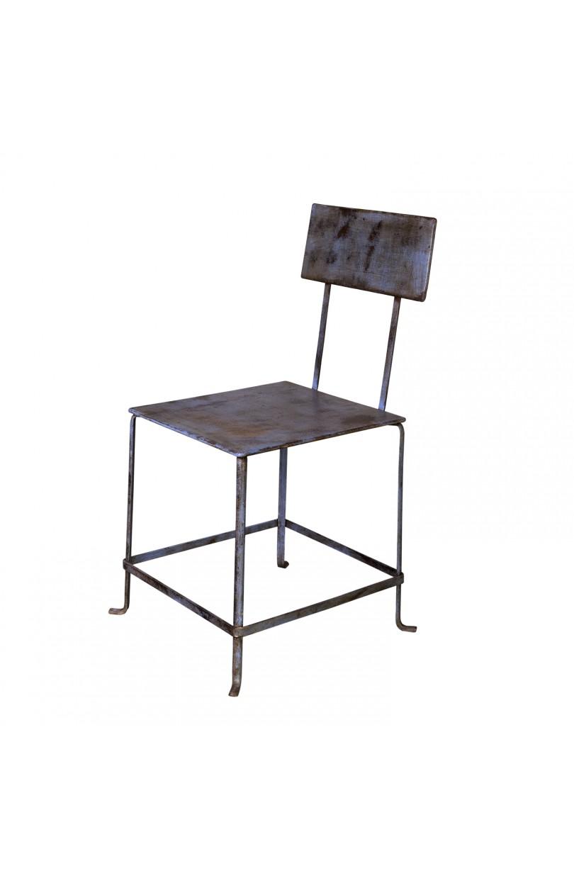 Silla de metal sillas en becara for Modelos de sillas de metal