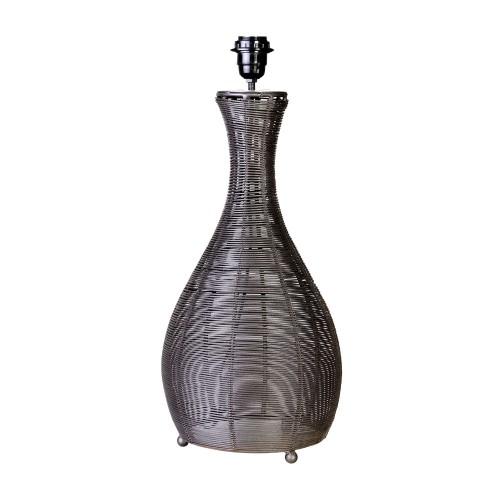 Lámpara de mesa de tiras de alambre