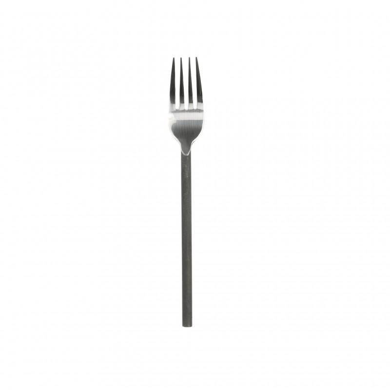 Tenedor de carne con mango de acero negro - BECARA