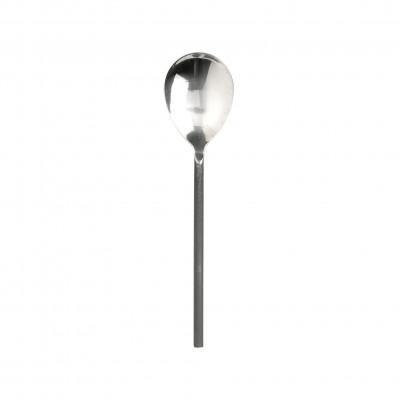 Cuchara de servir con mango de acero negro - BECARA