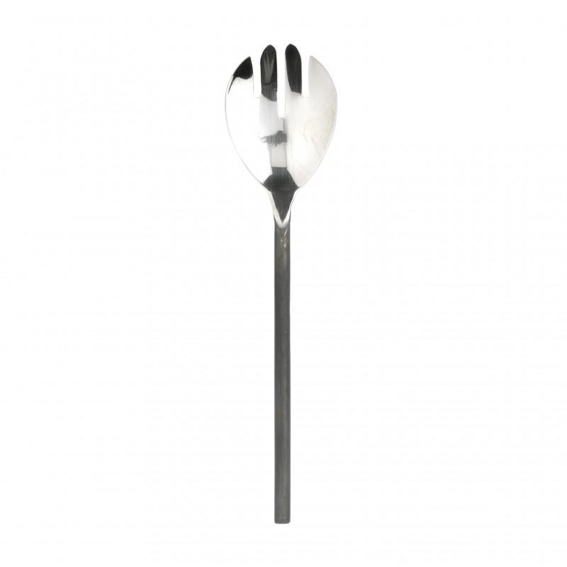 Black steel handle serving fork
