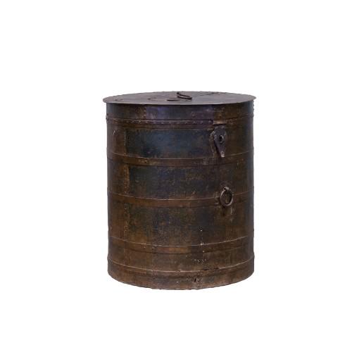 Ø80cm metallic sheet Antique container