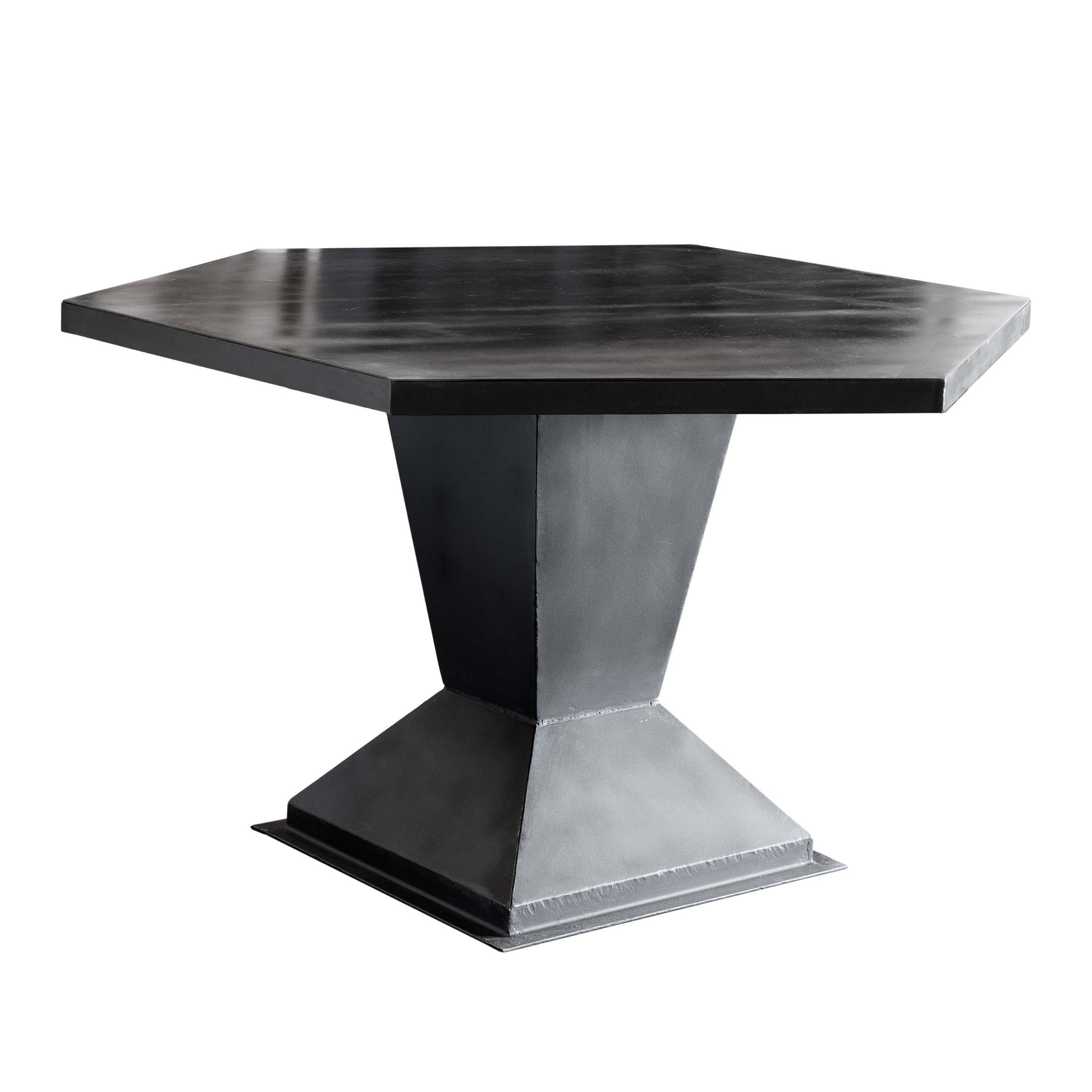 Mesa comedor negra excellent mesa paladio cubierta nogal for Comedor hexagonal