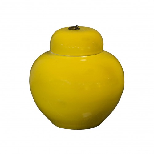 Yellow Antique large earthenware jar
