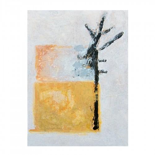 Óleo con árbol y mancha amarilla 120x160cm