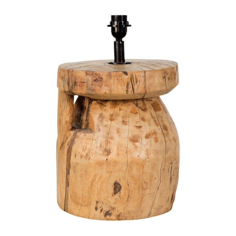 Natural wooden trunk table lamp